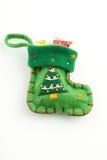 Regalos de la media de la Navidad aislados en blanco fotografía de archivo libre de regalías