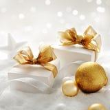 Regalos de la Navidad foto de archivo