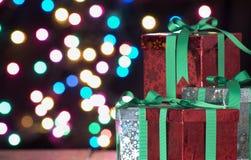Regalos de la Navidad Fotos de archivo libres de regalías