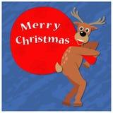 Regalos de la Navidad de ciervos ilustración del vector