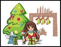 Regalos de la Navidad para una muchacha Libre Illustration