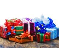 Regalos de la Navidad y del Año Nuevo Imagenes de archivo