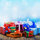 Regalos de la Navidad y del Año Nuevo Fotos de archivo libres de regalías