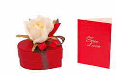 Regalos de la tarjeta del día de San Valentín Fotos de archivo