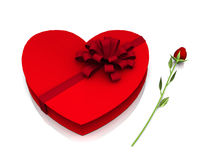 Regalos de la tarjeta del día de San Valentín Ilustración del Vector