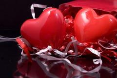 Regalos de las tarjetas del día de San Valentín Foto de archivo libre de regalías