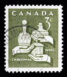 Regalos de los hombres sabios, serie de la Navidad, circa 1965 Foto de archivo libre de regalías
