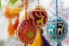 Regalos de los huevos de Pascua Imagen de archivo