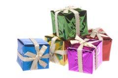 Regalos de Navidad aislados Fotos de archivo libres de regalías
