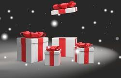 Regalos de Navidad 3d-illustration ilustración del vector