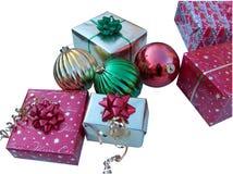 Regalos de Navidad en blanco Fotos de archivo libres de regalías
