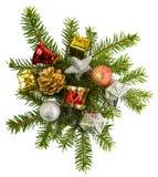 Regalos de Navidad hermosos aislados en el fondo blanco Fotografía de archivo