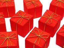 Regalos de Navidad rojos Imagen de archivo libre de regalías