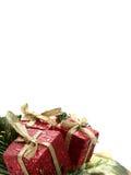 Regalos de Navidad verticales Imagen de archivo libre de regalías