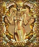 Regalos de oro para la civilización stock de ilustración