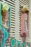 Regalos de vacaciones de la barra de caramelo del cumpleaños de las banderas del marco de la decoración imagen de archivo libre de regalías