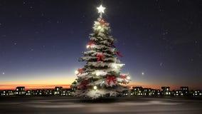 Regalos del árbol de navidad y del centelleo (alfa incluida) stock de ilustración