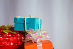 Regalos del Año Nuevo Fotos de archivo libres de regalías