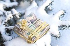 Regalos del Año Nuevo del dinero Foto de archivo