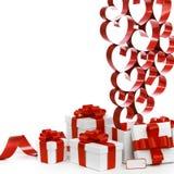 Regalos del amor Imagen de archivo libre de regalías
