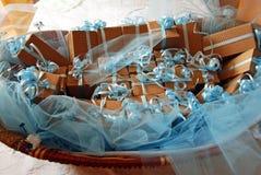 Regalos del bautizo Imagenes de archivo