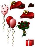 Regalos del día de tarjeta del día de San Valentín Fotografía de archivo