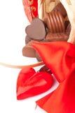 Regalos del dulce del día de tarjeta del día de San Valentín Foto de archivo libre de regalías