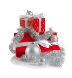 Regalos del rojo de la Navidad Imagen de archivo libre de regalías