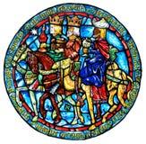 Regalos del vitral de unos de los reyes magos Fotos de archivo libres de regalías