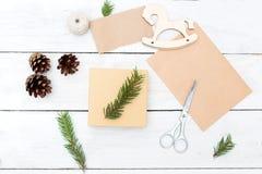 Regalos hechos a mano y todo de la Navidad necesarios para esto tapa imagen de archivo libre de regalías