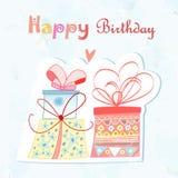 Presente de cumpleaños Imagenes de archivo