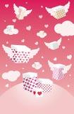 Regalos para el día de tarjeta del día de San Valentín Imagenes de archivo
