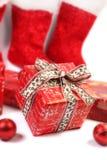 Regalos rojos Fotografía de archivo libre de regalías