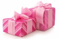 Regalos rosados Imagen de archivo libre de regalías
