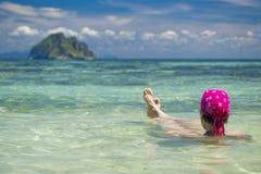 Regard à une île Image libre de droits