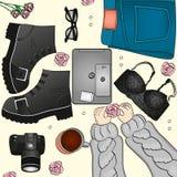Regard élégant de vêtements à la mode Image stock