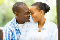 Regard africain de couples Photo stock