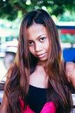 Regard attrayant de jeune belle fille asiatique Photographie stock libre de droits