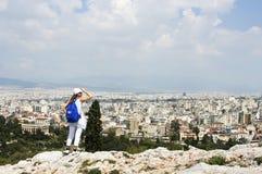 Regard au-dessus d'Athènes Photo libre de droits