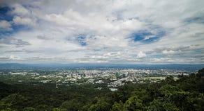 Regard au-dessus de Chiang Mai Photographie stock