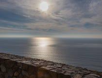 Regard au-dessus de l'océan pacifique du Point Loma Photos stock