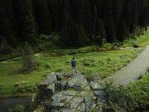 Regard au-dessus de la forêt du nord de l'Idaho photographie stock libre de droits