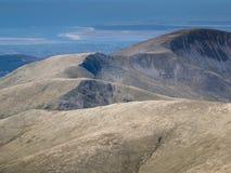 Regard au-dessus des collines du Pays de Galles vers la mer d'Irlande Photographie stock libre de droits