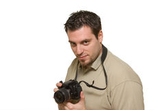 Regard avant de prendre une photo Photos libres de droits