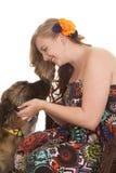 Regard d'amour au chien Photographie stock libre de droits