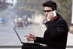 Regard d'entreprise modèle masculin indien des employés photographie stock libre de droits