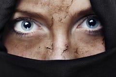 regard d'horreur Photographie stock libre de droits