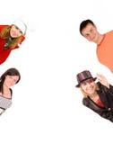 regard de 4 personnes Photographie stock libre de droits