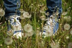 Regard de chaussettes de botte à l'un l'autre plan rapproché Photo stock