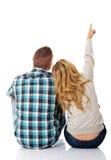 Regard de couples sur l'espace vide de copie Image libre de droits